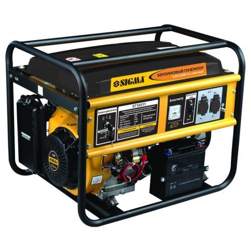 генератор бензиновый 5.0/5.5кВт 4-х тактный электрозапуск, 5710311, Бензиновые
