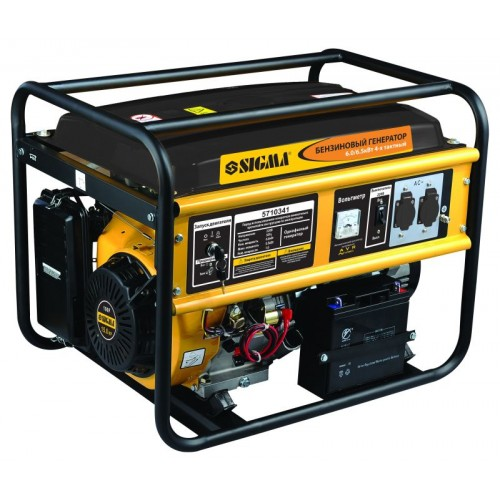 генератор бензиновый 6.0/6.5кВт 4-х тактный электрозапуск, 5710341, Бензиновые