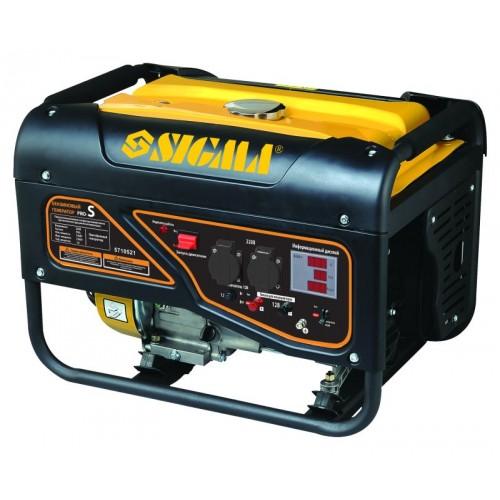 генератор бензиновый 2.5/2.8кВт 4-х тактный ручной запуск Pro-S, 5710521, Бензиновые