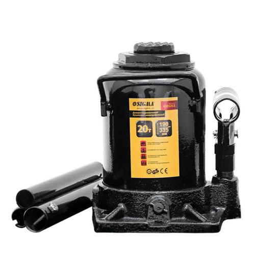 Домкрат гидравлический бутылочный низкопрофильный 20т 190-335мм SIGMA, 6101211