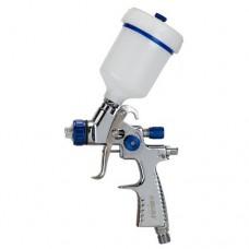 Краскораспылитель LVMP 1.0мм 30-115л/мин 1.5Бар с верхним пластиковым бачком 100мл алюминиевый корпус Refine (6814201) SIGMA
