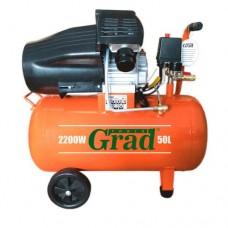 Компрессор двухцилиндровый 2.2кВт 386л/мин 8бар 50л (2 крана) Grad (7043935)