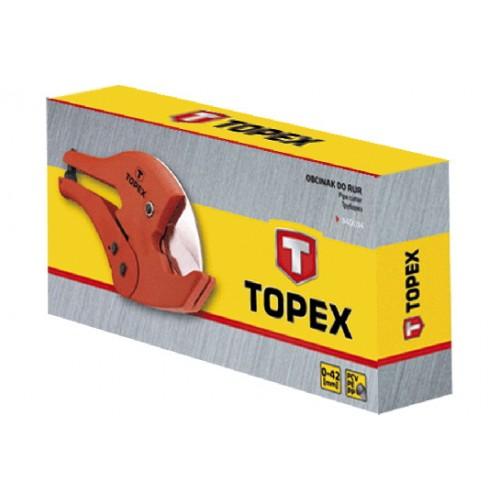 Труборез для пластиковых труб ПВХ, ПЭ, ПП 0 - 42 мм (1.5, 8) вес 590 гр TOPEX  в интернет магазине ToolStore